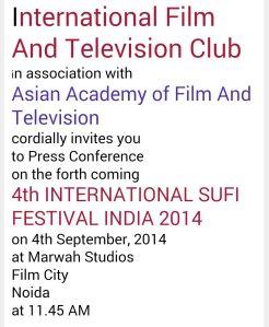 4th International Sufi Festival India 2014